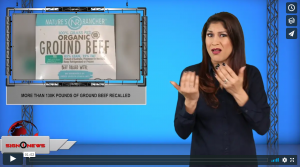 Sign 1 News with Crystal Cousineau - More than 130K pounds of ground beef recalled (ASL - 11.8.19)