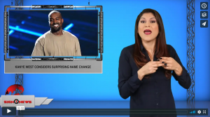 Sign 1 News with Crystal Cousineau - Kanye West considers surprising name change (ASL - 11.8.19)
