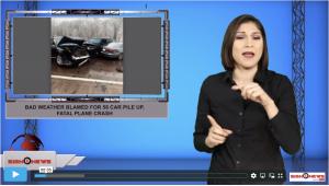 Sign1News anchor Crystal Cousineau - Bad weather blamed for 58 car pile up, fatal plane crash (ASL - 12.2.19)