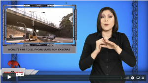 Sign1News anchor Crystal Cousineau - World's first cell phone detection cameras (ASL - 12.2.19)