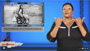 Sign1News anchor Candace Jones - Today is International Day of Persons with Disabilities (ASL - 12.3.19)