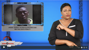 Sign1News anchor Candace Jones - Update: Suspect in Aniah Blanchard case may face death penalty (ASL - 12.3.19)