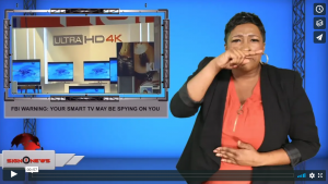 Sign 1 News with Candace Jones - FBI warning: Your smart tv may be spying on you (12.4.19)