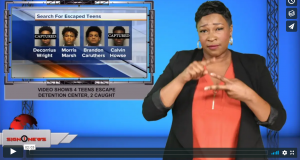 Sign 1 News with Candace Jones - Video shows 4 teens escape detention center, 2 caught (12.4.19)