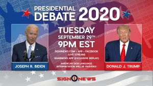 Presidential Debate September 29, 2020 at 9p EST