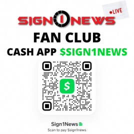 JOIN THE SIGN 1 NEWS FAN CLUB USING CASHAPP $SIGN1NEWS